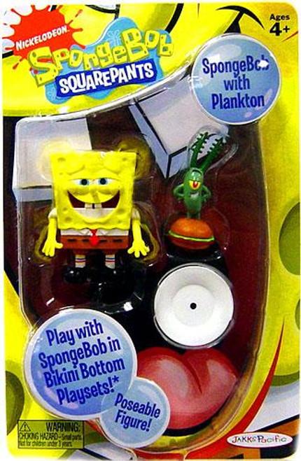 Spongebob Squarepants Spongebob Mini Figure [With Plankton]