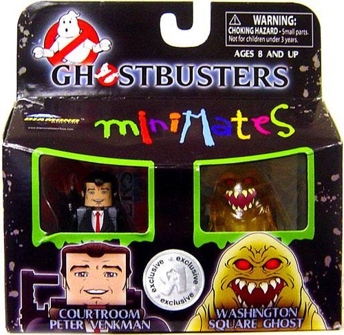 Ghostbusters II Minimates Courtroom Peter Venkman & Washington Square Ghost Exclusive Minifigure 2-Pack