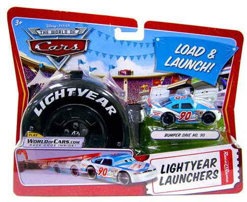 Disney Cars The World of Cars Lightyear Launchers Bumper Save No. 90 Diecast Car [With Launcher]