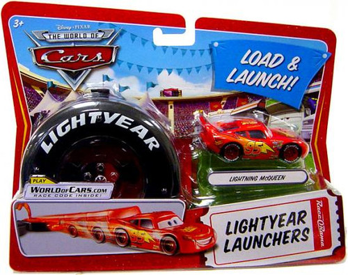Disney Cars The World of Cars Lightyear Launchers Lightning McQueen Diecast Car [With Launcher]