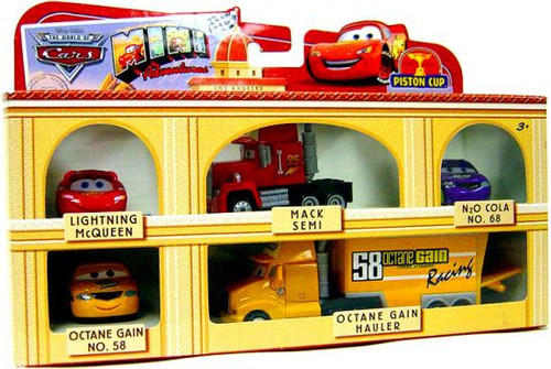 Disney Cars The World of Cars Mini Adventures Piston Cup Plastic Car Gift Pack