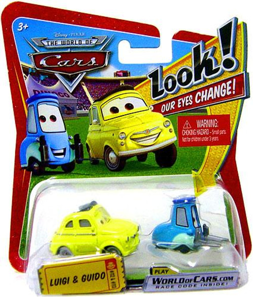 Disney Cars The World of Cars Lenticular Eyes Series 1 Luigi & Guido Diecast Car