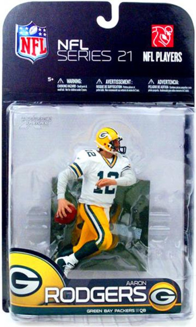 McFarlane Toys NFL Green Bay Packers Sports Picks Series 21 Aaron Rodgers Action Figure [White Jersey Variant]