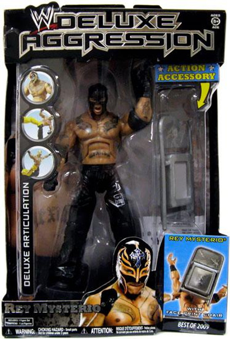 WWE Wrestling Deluxe Aggression Best of 2009 Rey Mysterio Action Figure