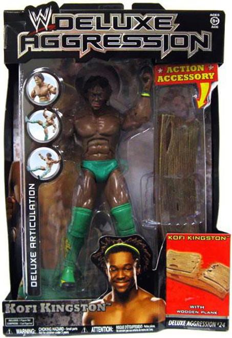 WWE Wrestling Deluxe Aggression Series 24 Kofi Kingston Action Figure