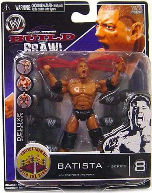 WWE Wrestling Build N' Brawl Series 8 Batista Action Figure