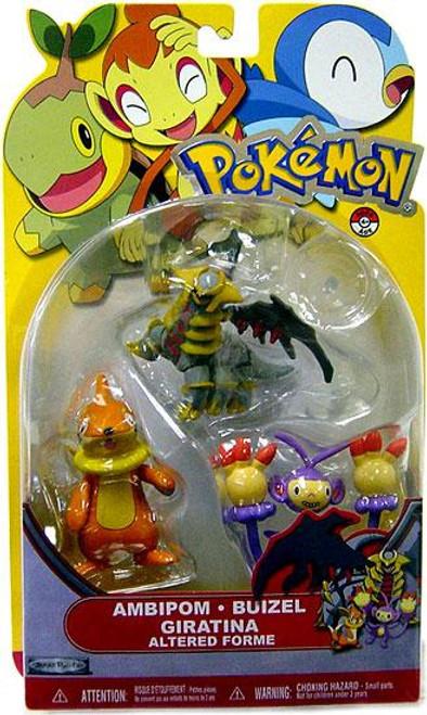 Pokemon Diamond & Pearl Series 14 Ambipom, Buizel & Giratina [Altered Forme] Figure 3-Pack