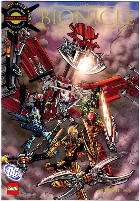 LEGO Bionicle Glatorian Comic Book #4