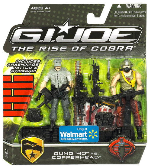 GI Joe The Rise of Cobra Gung Ho vs. Copperhead Exclusive Action Figure 2-Pack