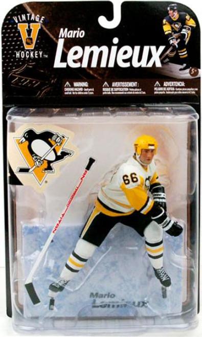 McFarlane Toys NHL Pittsburgh Penguins Sports Picks Legends Series 8 Mario Lemieux Action Figure [White Jersey Variant]