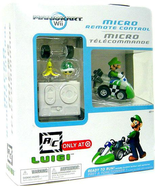 Super Mario Mario Kart Wii Micro Remote Control Luigi Exclusive R/C Vehicle