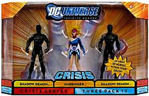 DC Universe Crisis Infinite Heroes Shadow Demon, Harbinger & Shadow Demon Action Figures #12
