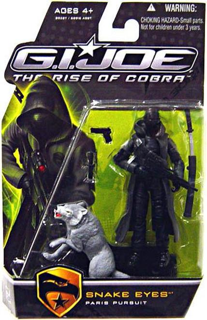 GI Joe The Rise of Cobra Snake Eyes Action Figure [Paris Pursuit, Gray Timber]