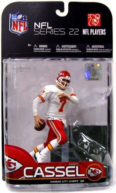 McFarlane Toys NFL Kansas City Chiefs Sports Picks Series 22 Matt Cassel Action Figure [White Jersey Variant]