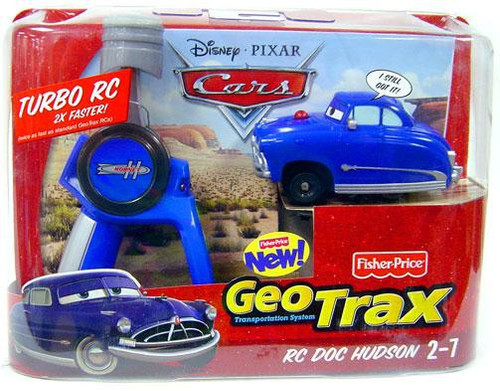 Fisher Price Disney Cars GeoTrax RC Doc Hudson Remote Control Car