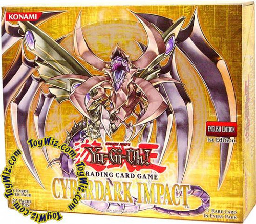 YuGiOh Cyberdark Impact (1st Edition) Booster Box [24 Packs] [Sealed]