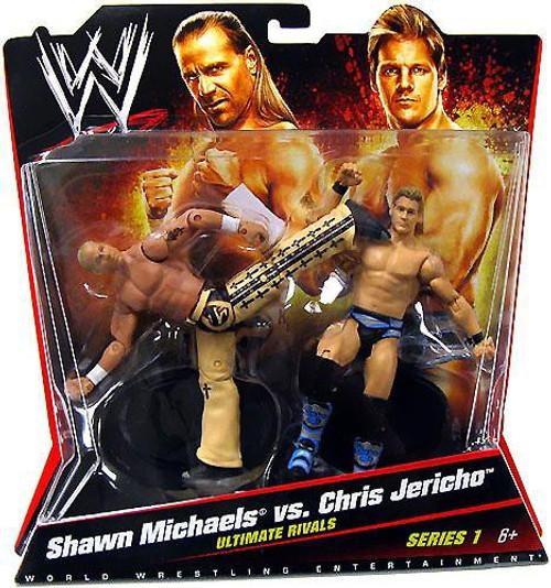 WWE Wrestling Series 1 Shawn Michaels vs. Chris Jericho Action Figure 2-Pack