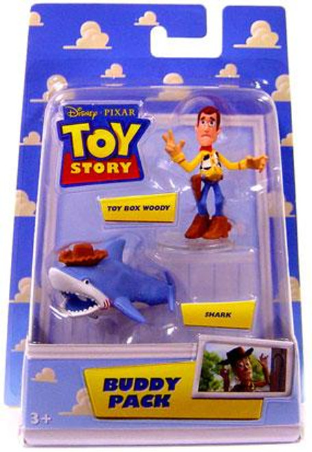 Toy Story Buddy Pack Toy Box Woody & Shark Mini Figure 2-Pack