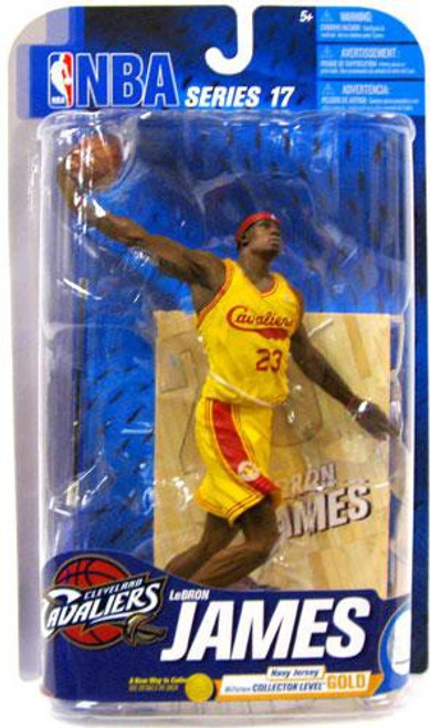 McFarlane Toys NBA Cleveland Cavaliers Sports Picks Series 17 Lebron James Action Figure [Yellow Jersey]