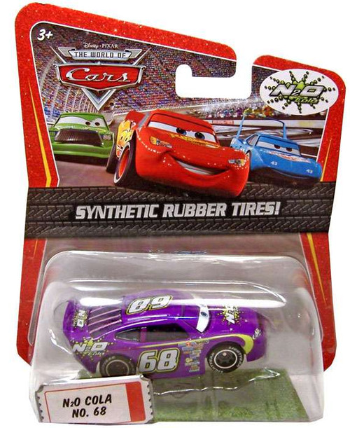 Disney Cars The World of Cars Synthetic Rubber Tires N2O Cola No. 68 Exclusive Diecast Car
