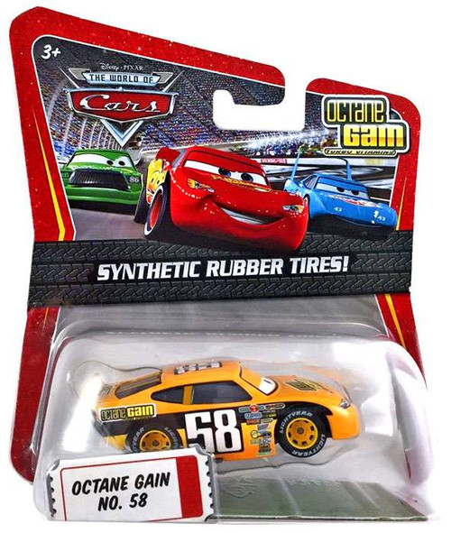 Disney Cars The World of Cars Synthetic Rubber Tires Octane Gain No. 58 Exclusive Diecast Car