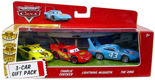 Disney Cars The World of Cars Multi-Packs Piston Cup 3-Car Gift Pack Diecast Car Set