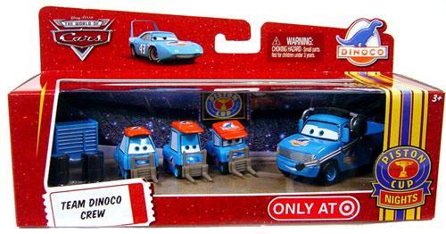 Disney Cars The World of Cars Multi-Packs Team Dinoco Crew Exclusive Diecast Car Set
