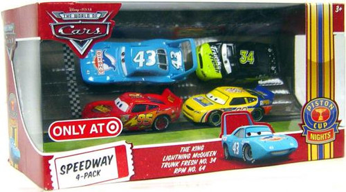 Disney Cars The World of Cars Multi-Packs Speedway 4-Pack Exclusive Diecast Car Set [Set #1]