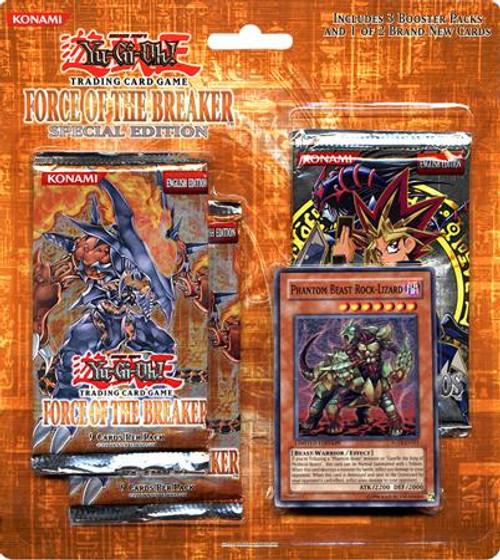 YuGiOh Force of the Breaker Special Edition Pack [Phantom Beast Rock-Lizard] [Sealed]