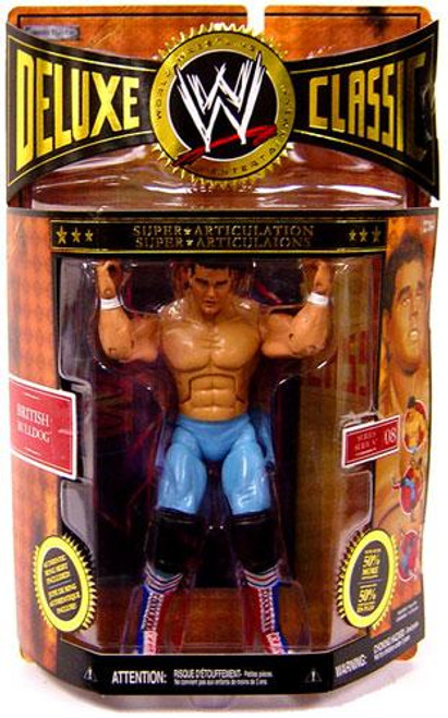 WWE Wrestling Deluxe Classic Superstars Series 8 British Bulldog Exclusive Action Figure
