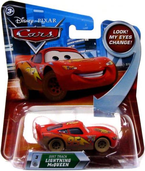 Disney Cars Lenticular Eyes Series 2 Dirt Track Lightning McQueen Diecast Car