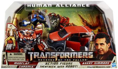 Transformers Revenge of the Fallen Human Alliance Mudflap with Agent Simmons Action Figure Set