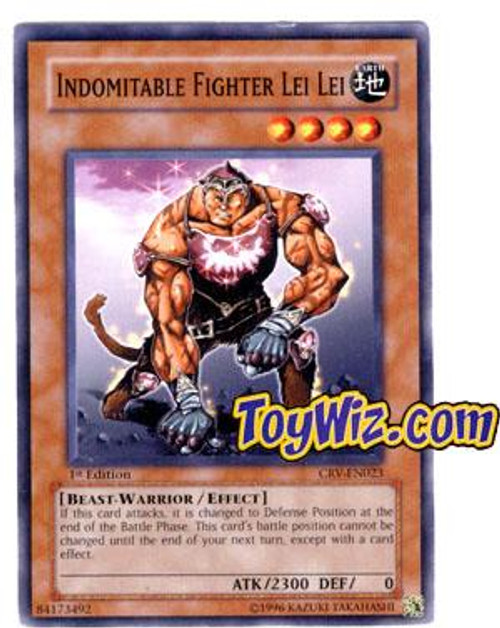 YuGiOh Cybernetic Revolution Common Indomitable Fighter Lei Lei CRV-EN023