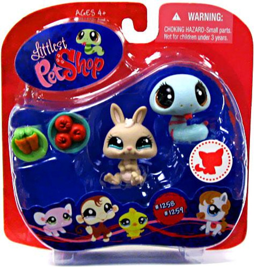 Littlest Pet Shop Bunny & Snake Exclusive Figure 2-Pack #1258, 1259