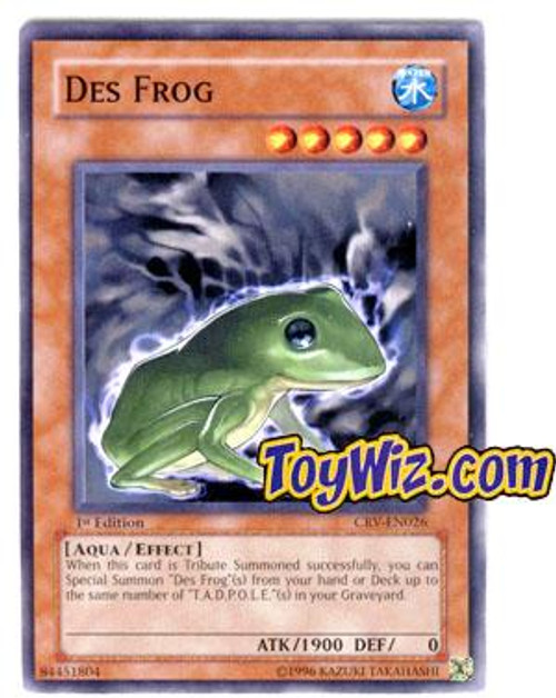 YuGiOh Cybernetic Revolution Common Des Frog CRV-EN026
