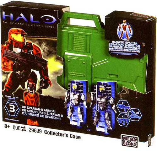Mega Bloks Halo The Authentic Collector's Series OF Spartan-II Armor Collector's Case Set #29699