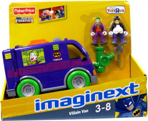 Fisher Price DC Super Friends Batman Imaginext Villain Van Exclusive 3-Inch Figure Set