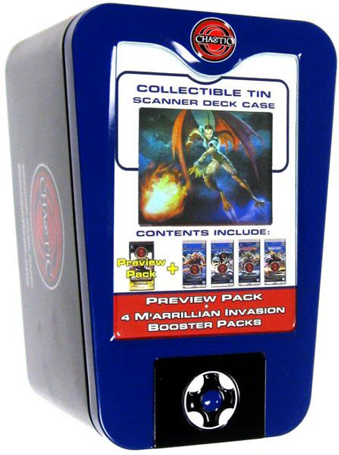 Chaotic 2009 Scanner Deck Box Preview Pack Collectible Tin [Blue]