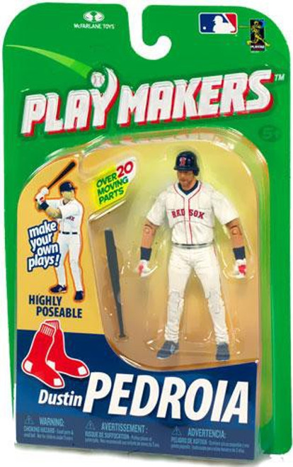 McFarlane Toys MLB Boston Red Sox Playmakers Series 1 Dustin Pedroia Action Figure [Batting]
