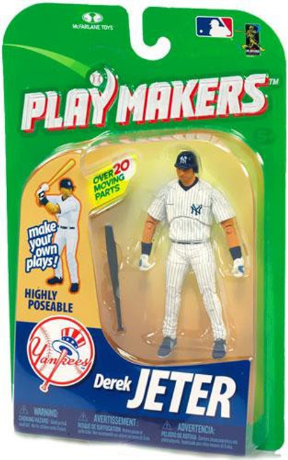 McFarlane Toys MLB New York Yankees Playmakers Series 1 Derek Jeter Action Figure [Batting]