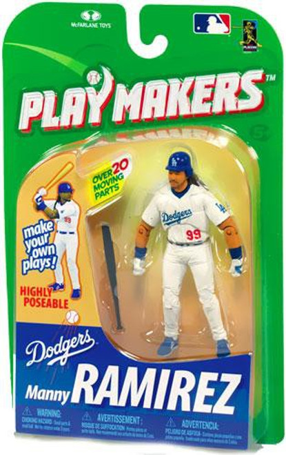 McFarlane Toys MLB Los Angeles Dodgers Playmakers Series 1 Manny Ramirez Action Figure [Batting]