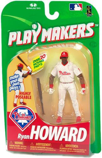 McFarlane Toys MLB Philadelphia Phillies Playmakers Series 1 Ryan Howard Action Figure [Batting]