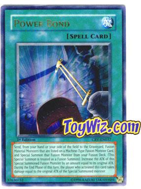 YuGiOh Cybernetic Revolution Ultra Rare Power Bond CRV-EN037