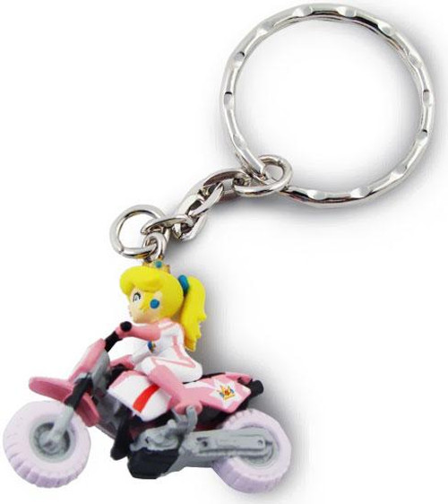 Super Mario Mario Kart Wii Volume 2 Princess Peach Keychain [Motorcycle]