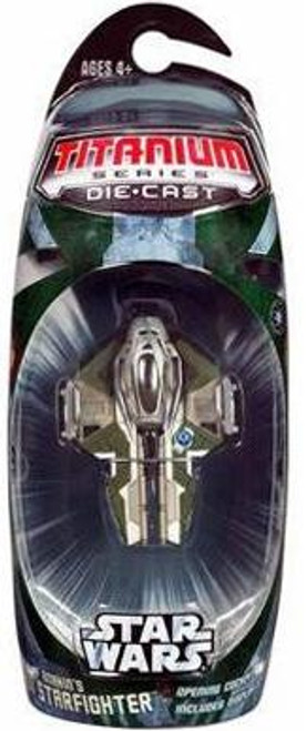 Star Wars Revenge of the Sith Titanium Series 2006 Anakin's Jedi Starfighter Diecast Vehicle [Green Trim]