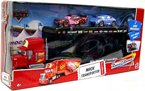 Disney Cars The World of Cars Race-O-Rama Mack Transporter Exclusive Diecast Car