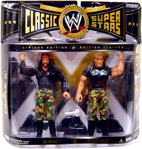 WWE Wrestling Classic Superstars Limited Editions X-Pac & Triple H Action Figure 2-Pack