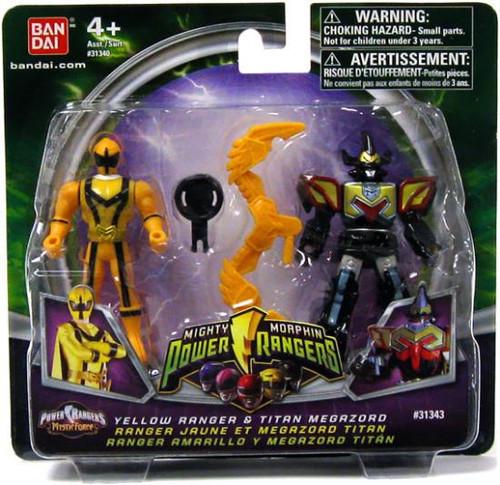 Power Rangers Mighty Morphin 2009 Yellow Ranger & Titan Megazord Action Figure 2-Pack