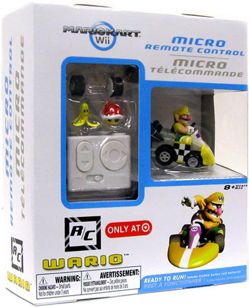 Super Mario Mario Kart Wii Micro Remote Control Wario Exclusive R/C Vehicle