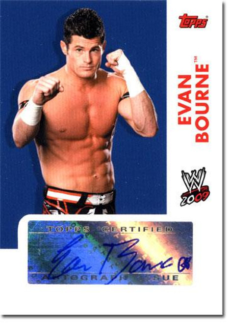 WWE Wrestling 2009 Trading Cards Authentic Autograph Evan Bourne